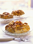 Apple and cranberry tartlet on plate