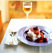 Parfait with mascarpone mousse and compote