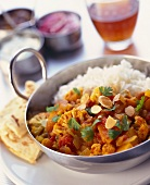 Indian vegetable stew with rice