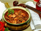 Beef stew with sausage