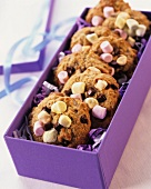 Cookies with marshmallows in gift box