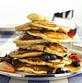 Pancakes with Fruit Topping