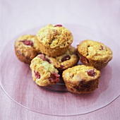 Cranberry muffins on a plate