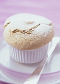 Hazelnut souffle in souffle dishes