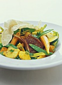 Lamb chop with mixed vegetables