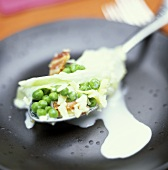 Peas with bacon and Parmesan