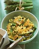 Risotto agli asparagi (Asparagus risotto, Italy)