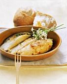 Roast chicory with taleggio
