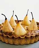 Tart with whole pears