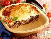 Moussaka with béchamel cheese sauce