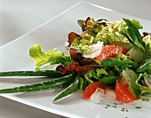 Mixed salad leaves with Aloe vera and grapefruit