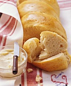 Anke-Züpfe: bread plait with butter and egg from Switzerland