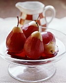 Poires 'au pinot' (Pears in wine syrup, Switzerland)