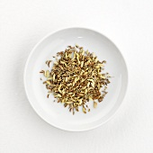 Anise, caraway and fennel tea (dry) on plate