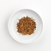 Lapacho tea from S. America (dry) on plate