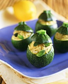 Round courgettes with rice stuffing
