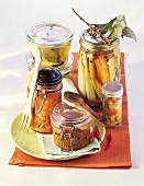 Various pickled vegetables and chutneys