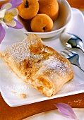 Quark and apricot strudel with ebly wheat