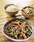 Beef with vegetables, Asian style