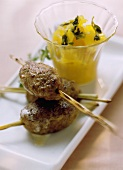Venison rissoles with pineapple chutney