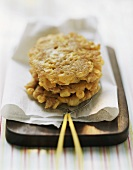 Corn cakes with cornflakes