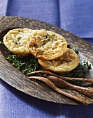 Semmelküchl (bread cakes) with cheese and thyme