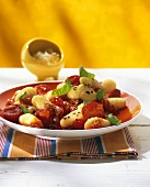 Gnocchi with cherry tomatoes and basil