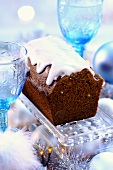 Piernik (Christmas honey cake from Poland) with glace icing