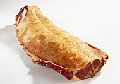 Saddle of lamb, cured and smoked