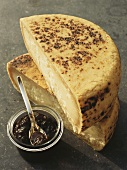 Basque cheese and jam