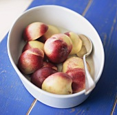 Poached nectarines