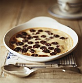 Cherry clafouti with icing sugar