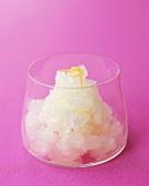 Lemon granita in glass