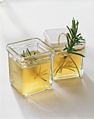 Home-made rosemary oil to give as a gift