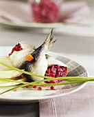 Rollmops with beetroot tartare