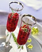 Cherries in rosemary jelly