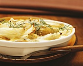 Fennel and pear gratin