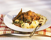 Oxtail with ribbon pasta
