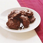 Chocolate gingerbread biscuits