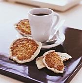 Caffè e biscotti (Florentines and cup of espresso, Italy)