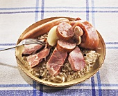 Sauerkraut with meat and sausage (Alsace)