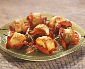 Fried plantains with bacon (Antilles)