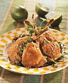 Breaded lamb chops from the Caribbean
