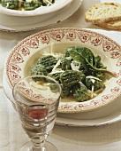Gnocchi verdi (spinach gnocchi with ricotta and Parmesan)