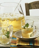 Refreshing melon punch with lemon balm