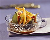Stuffed figs with candied orange peel