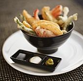 Vegetable and fish tempura (Japan)