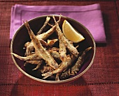 Deep-fried smelt (small fish)