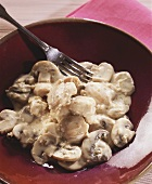 Cod ragout with mushrooms