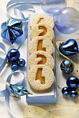 Jam biscuits with numbers